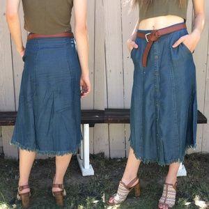 FINAL SALE 3 LEFT! NWT Chambray Skirt